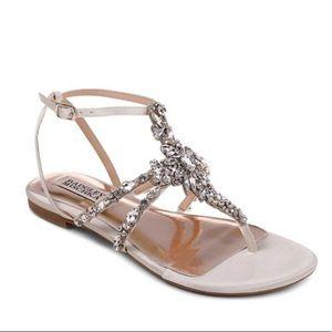 Badley Mischka Hampden thong sandals